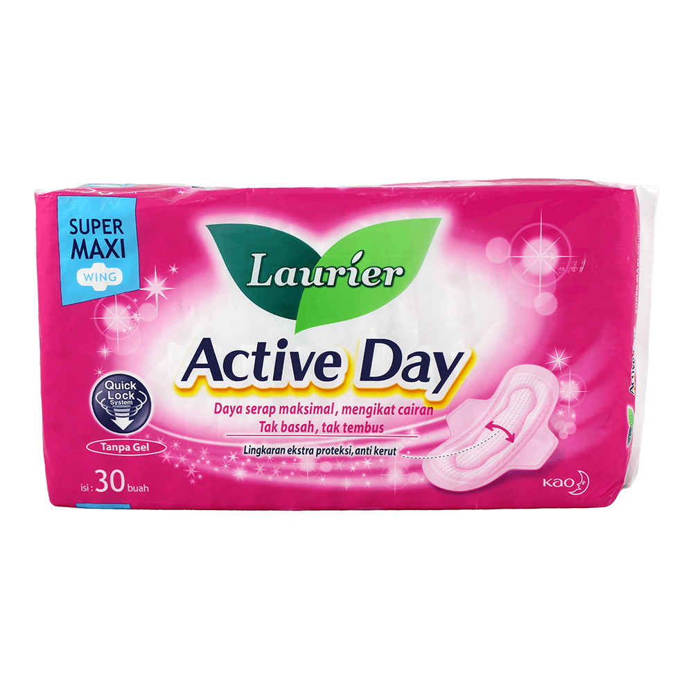 Laurier active day super maxi wing 30 pcs baby shop sg for Active salon supplies