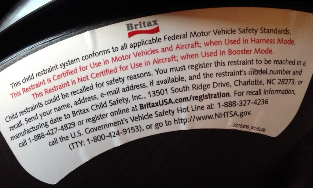 Britax-Frontier-80-FAA-Certification-Label