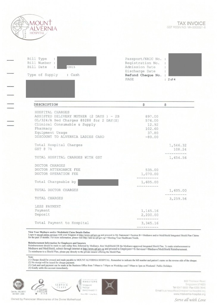 Mt Alvernia Hospital Bill_Assisted Delivery_2-bedder_3D2N-page-001